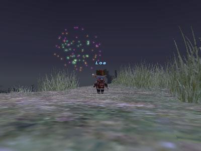 わざわざ星降る丘まで行ったんですが時間間違えて丘に星降らず
