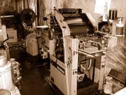 パワーアップした印刷機