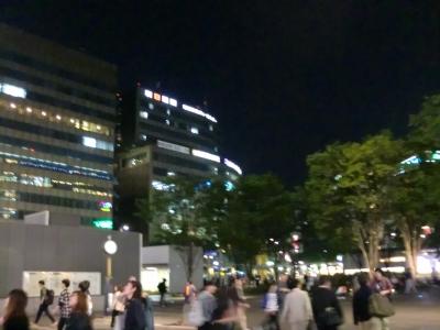 夜の博多駅前3