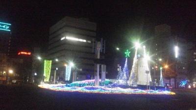 駅前イルミネーション1