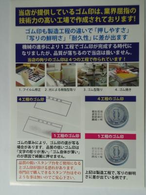 ゴム印の製造過程1