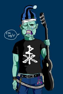 ゾンビ ロック ギター イラスト zombie rock illustration