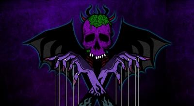 ダーク 手 スカル イラスト dark skull hand illustration