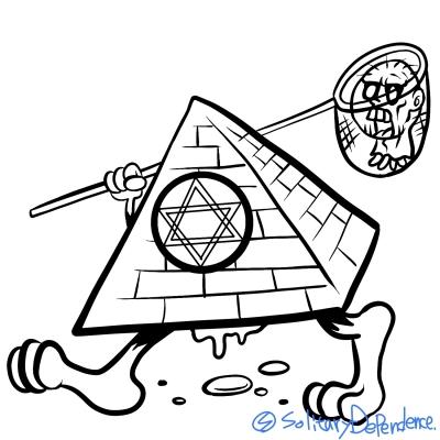 三角 三角錐 キャラクター イラスト ピラミッド illustration art character