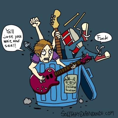 バンド イラスト バンドアート ジャケット 制作 ロック illustration illustrator rockband rock bandart