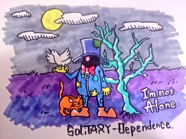 Solitary Dependence イラスト アート 落書き illustration art artwork drawing copic コピック