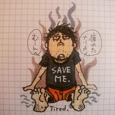 サトウトモヒコ イラスト tomohikosato  satotomohiko illustration 自画像 selfportrait art