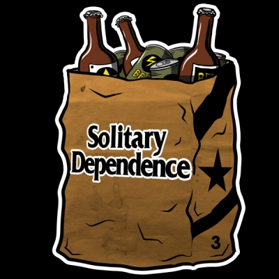 SolitaryDependence logo image illustration artwork  ソリタリー ロゴ イラスト ブランド  画像  sticker ステッカー 新作