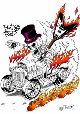 skull illustration image illust illustrator lowbrow guitar flyingV hotrod ホットロッド スカル 骸骨 イラスト 画像 イラストレーター ギター フライングV