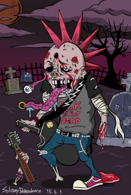 zombie image illust illustration illustrator japanese artist rock guitar respaul ゾンビ イラスト イラストレーター 画像 ギター レスポール