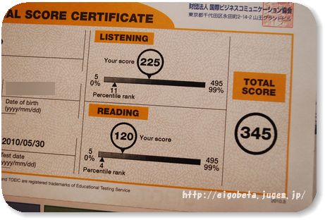TOEIC初受験の結果発表! | 英語ベタ子のスピードラ-ニング体験談
