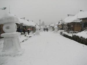 大内宿雪祭り