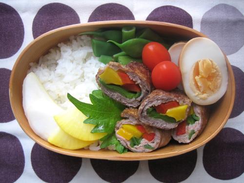 170629夏野菜の牛肉巻き弁当