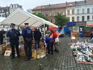 ブリュッセルのフリーマーケット