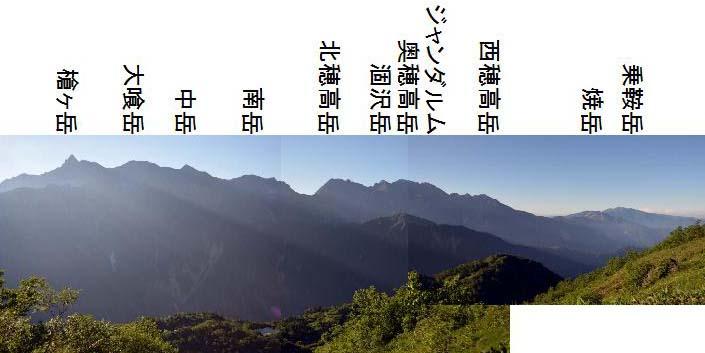 鏡平 槍ヶ岳 穂高岳
