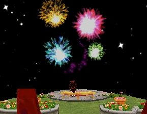 熊ちゃんの島から花火を観覧