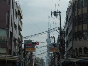 合羽橋からスカイツリー