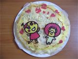 バースデイケーキ まろとメロディーヌのミルクレープ