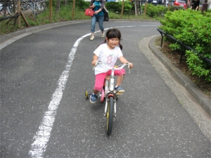 由依!自転車乗れた!