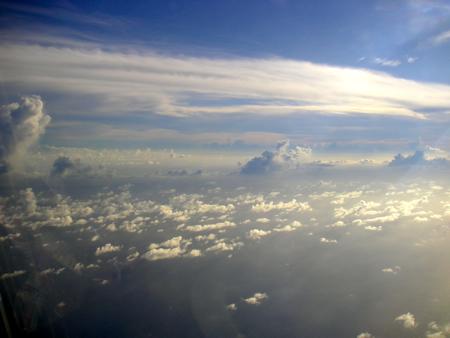 グアム上空