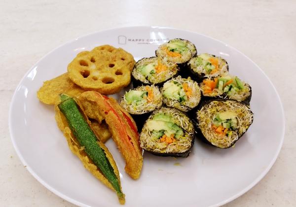 パコラと野菜海苔巻き