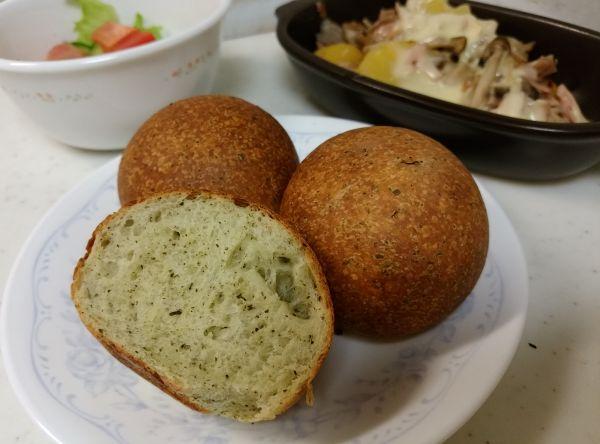 バジルガーリックパン