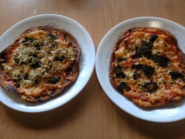 自家製酵母でピザ