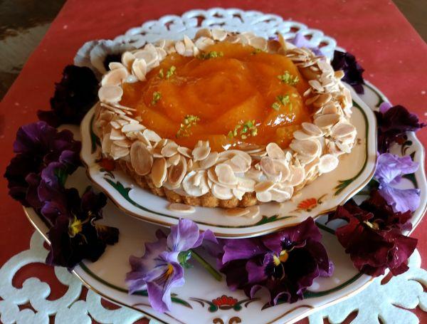 柑橘系のタルト