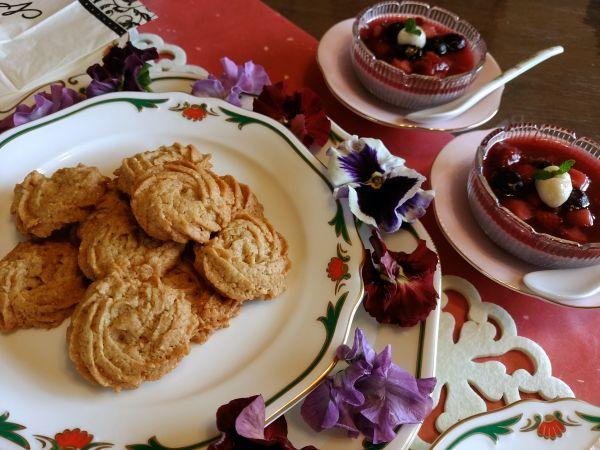 メープルクッキーとベリームース
