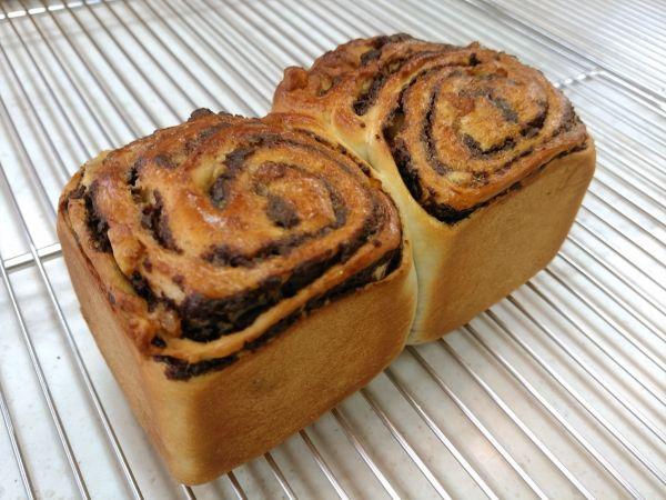 手作りチョコシートのパン