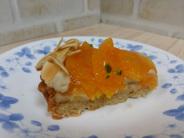 柑橘のタルト 断面