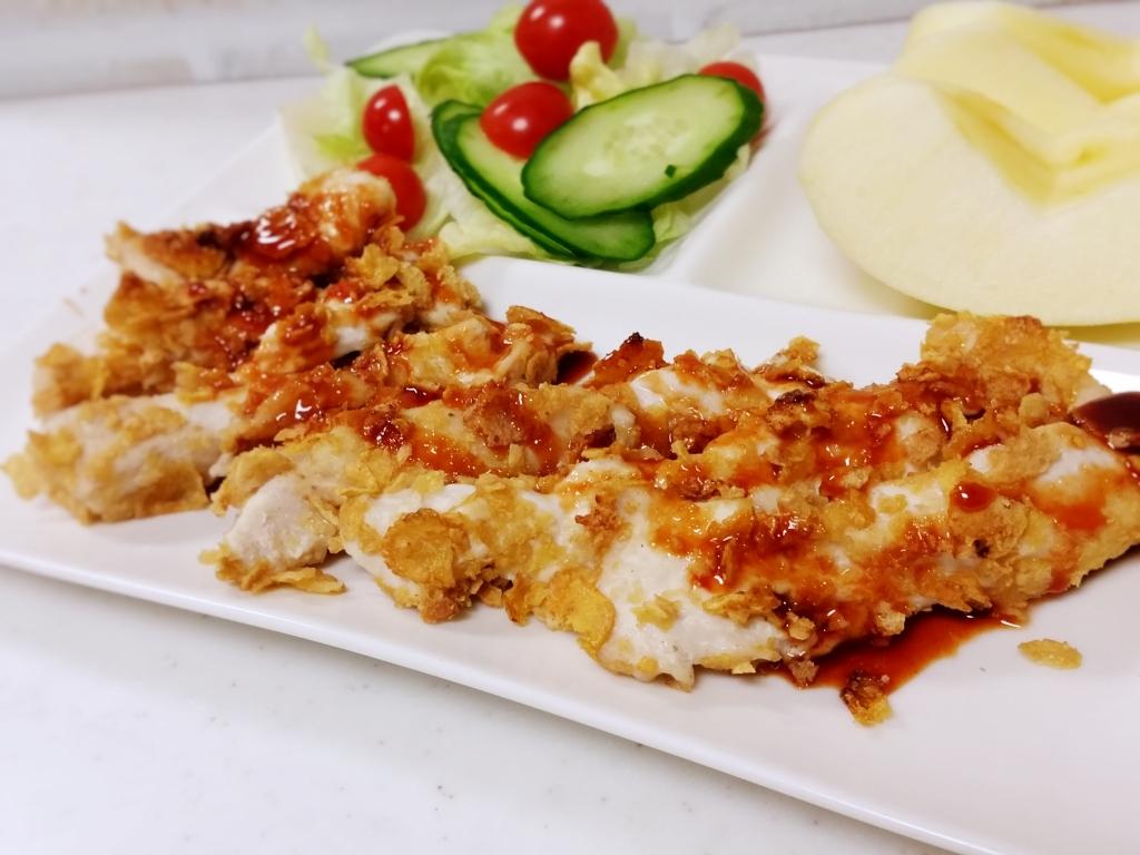 韓国風鶏胸肉の甘辛フライドチキン