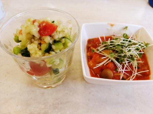 タブレ キノコトレンティルのトマトスープ
