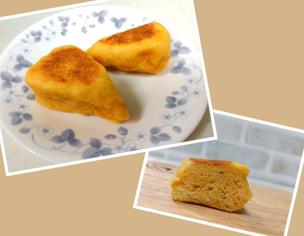 ニンジン豆乳のさんかくパン