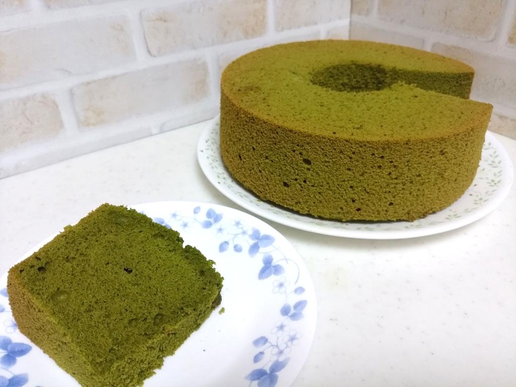 米粉の抹茶シフォン