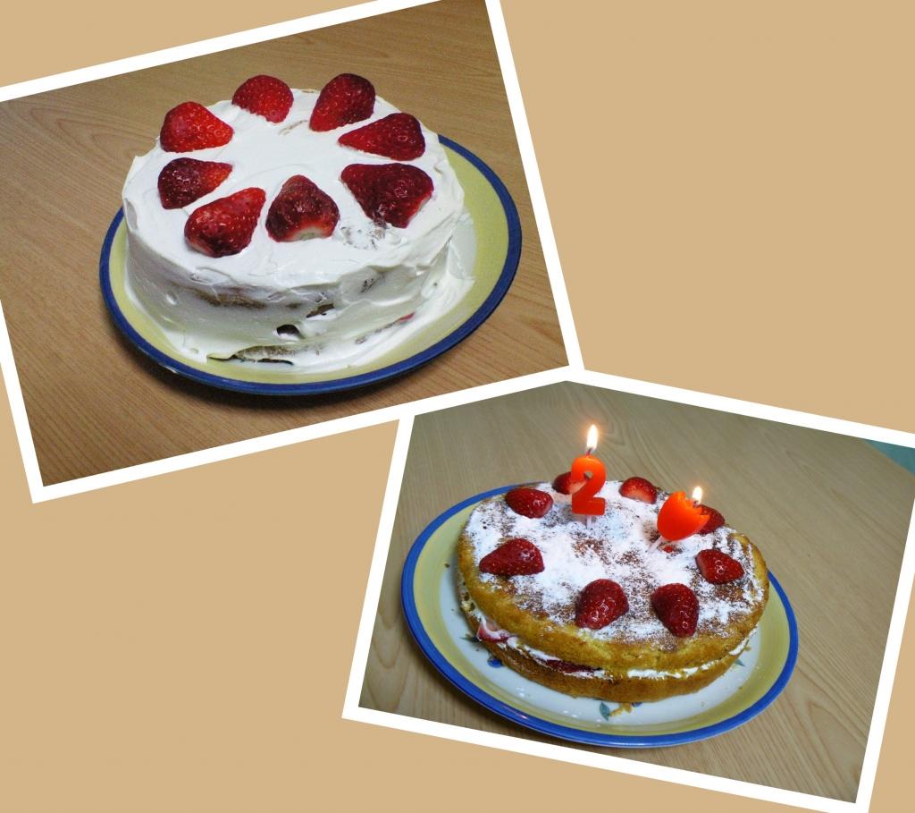 昔のケーキ