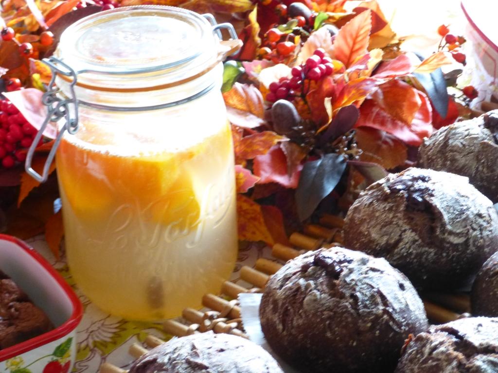 柿酵母とダブルショコラ