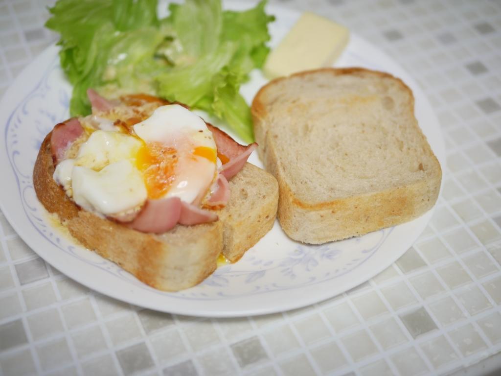 20200817-F007-リーンなワンローフ食パン(梅酵母) ゆめちから100 エッグベネディクト風.JPG