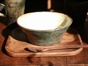 八木橋昇黒呉須化粧平鉢