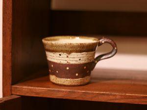 阿部誠灰釉マグカップ