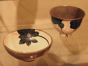 大谷桃子黒ハスの花平小鉢