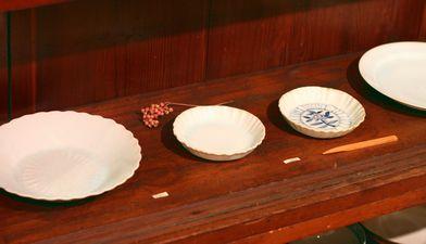稲村真耶 氷結貫入釉内菊6.5寸浅鉢