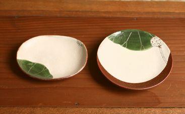 大谷桃子ハスの実楕円小皿