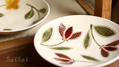 飯野夏実 チューリップの皿
