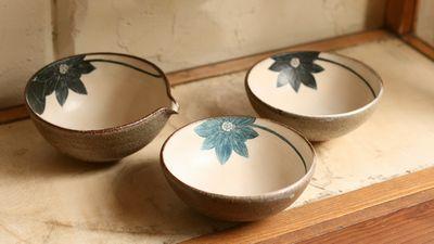 大谷桃子 青ハスの花平小鉢
