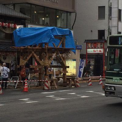 2014祇園祭鉾立て