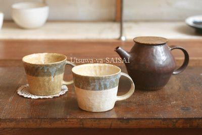 鈴木敬子 マグカップ ポット(茶)