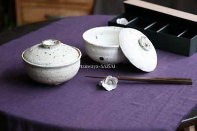 村上直子 moegi蓋付こどんぶり 花つぼみ箸置き