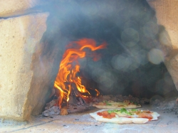 秋祭りピザ焼き