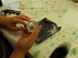 アクリル樹脂標本づくり2日目